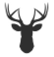 Pixel head of deer in vector image