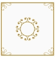 Round yellow and gold a retro the card vector image