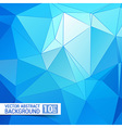 Abstract Blue Triangle Geometrical Background vector image vector image