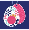 abstract colorful stars Easter egg shaped vector image vector image