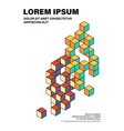 abstract modern art isometric geometric shape vector image