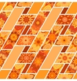 abstract seamless patchwork pattern with vector image vector image