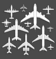 airplanes icons top view vector image vector image