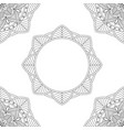 background with floral mandalas coloring book vector image vector image