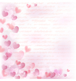 Background with pink hearts vector image vector image