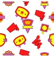 Badge pattern cartoon style vector image vector image