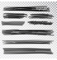 black highlight marker stripes isolated on white vector image vector image