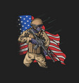 brave american soldier veterans day v vector image vector image