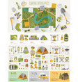 Camping Infographic set with charts and other vector image vector image