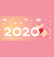 chinese new year 2020 year rat cartoon vector image