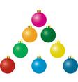 Christmas matte balls vector image vector image