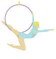 circus gymnast vector image