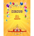 Circus poster on yellow background vector image