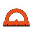 color silhouette image cartoon orange rule vector image vector image