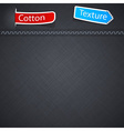 Cotton texture with paper label vector image