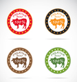 Cow beef 2 vector image vector image