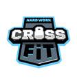 cross fitness sport logo emblem vector image vector image