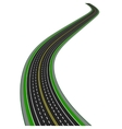 Curved highway In perspective Yellow and white vector image vector image