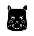 cute animal hippo head image vector image