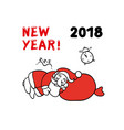 cute sketch of santa claus vector image vector image