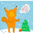 Cute squirrel Greeting card vector image