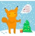 Cute squirrel Greeting card vector image vector image
