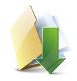 Download folder vector image