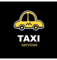 emblem for taxi service vector image vector image