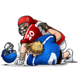 Football Players Fight and Punch vector image vector image