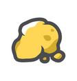 gold nugget ore icon cartoon vector image vector image