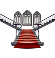 Gothic Stairs Interior8 vector image vector image