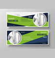 green geometric business banners with image space vector image vector image
