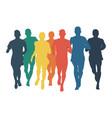 group runners men run vector image