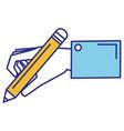 hand human writing icon vector image