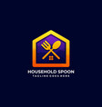 household spoon design template vector image
