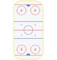 Ice hockey field vector image vector image