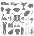 Icons and symbols of golf vector image