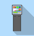 Info payment kiosk icon flat style