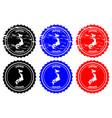 japan rubber stamp vector image