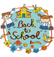 Kids Student back to School Heading vector image vector image