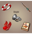 knight set part vestments five items vector image vector image