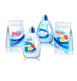 laundry detergent package design set of container vector image vector image