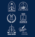 law firm lawyer office legal center symbol set vector image vector image