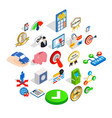 leadership icons set isometric style vector image vector image