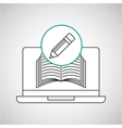 learn online book writing pencil design vector image vector image