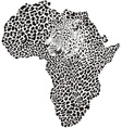 Leopard skin and head in silhouette africa vector | Price: 1 Credit (USD $1)
