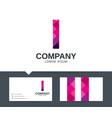 letter i - logo design vector image