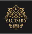 letter v logo - classic luxurious style logo vector image