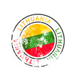 lithuania sign vintage grunge imprint with flag vector image