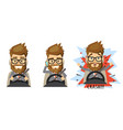 man holding mobile phone while driving car vector image vector image
